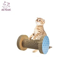 Eco-friendly corrugated cardboard rolling cat scratcher toy
