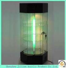 Manufactuer acrylic floating LED display cabinet
