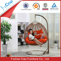 Rattan living room/indoor used swings furniture outdoor swings for adults