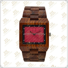 Shenzhen factory Wholesale Luxury Bewell square shaped man bamboo sandalwood wooden watch