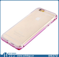 Metal Bumper & Ultra Thin Silicone Back Cover Case for iPhone 6 4.7 inch