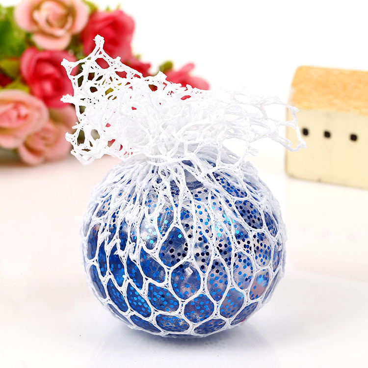 Promotional Customized Anti Stress Squeezing Crystal Grape  Ball Toy