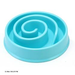 Slow Feed Dog Bowl Plastic Pet Bowl