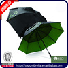 good quality windproof double layers vented golf fiberglass umbrella