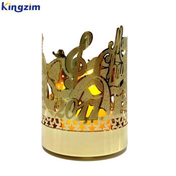home decoration gold metal candle holder jar with wedding