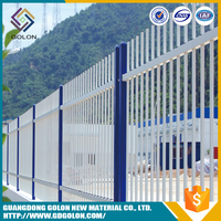 Decorative easily assembled galvanized steel fence panels