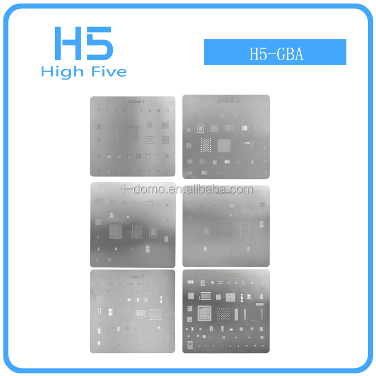 Pro new 6PCS 96x86mm BGA Reballing Stencil Template BGA IC Chipset For iphone 7 7Plus 6 6Plus 6s 6S Plus GPU CPU RAM Reball