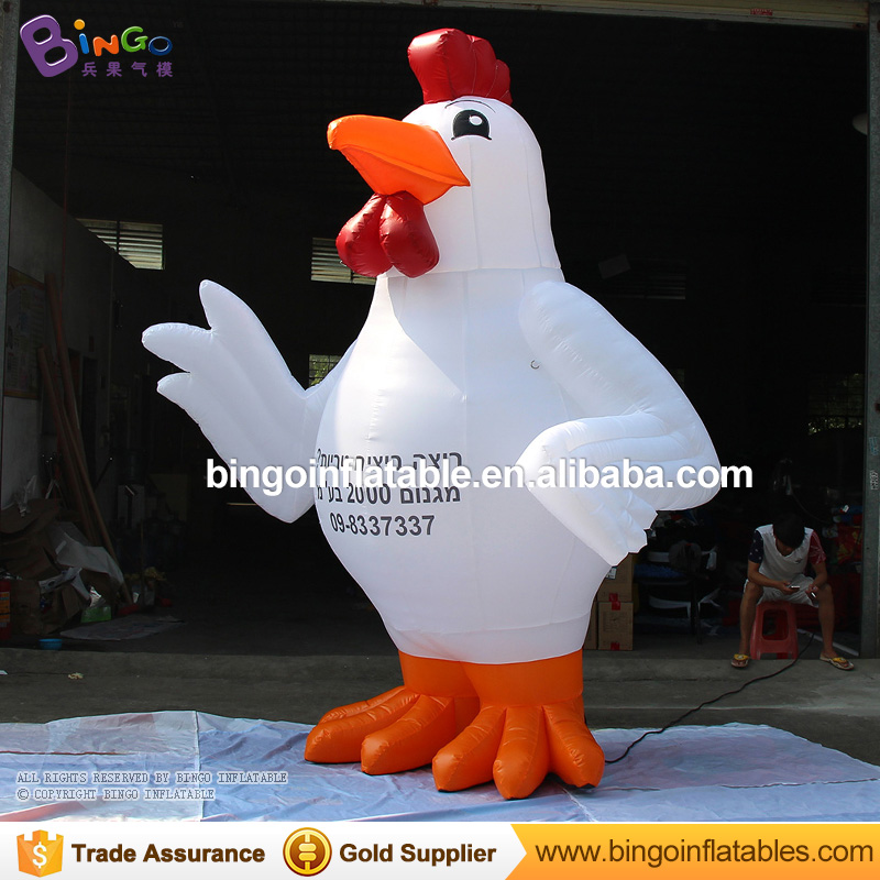 10 feet Oxford Giant inflatable rooster for advertising