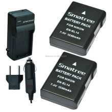 Smatree digital camera battery LP-E10for En-EL14 and Charger for Nikon