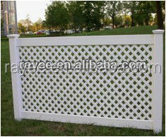 Flexible HORSE FARM FENCHING, white plastic snow fence / PVC valla de jardin/valla de estacas