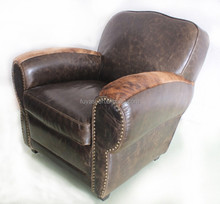 living room leather sofa Antique style furniture armchair armchair hotel furniture YH-156
