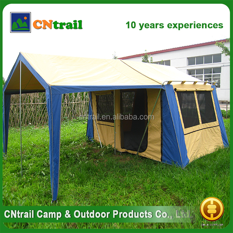 Outdoor camping 8 person waterproof big canvas family tent