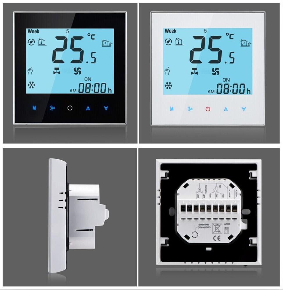 Termostato de ambiente para la unidad fan coil pantalla - Termostato de ambiente ...