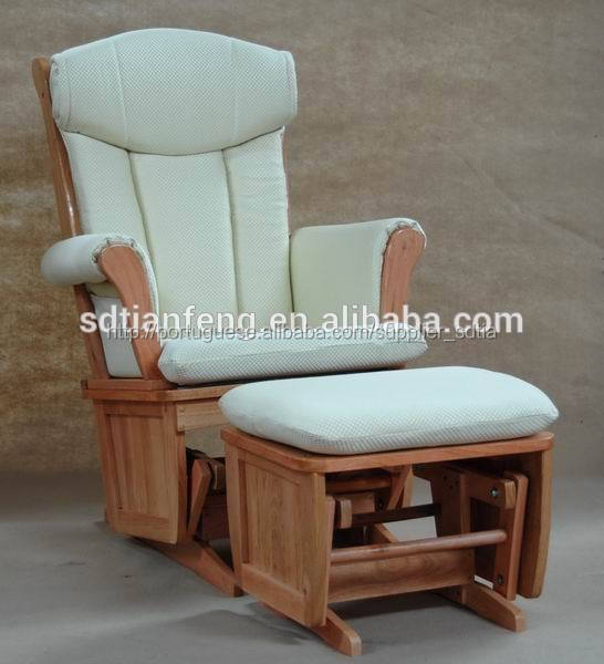 Bra o acolchoado de madeira antiga m e cadeira de balan o - Cojines para mecedoras ...