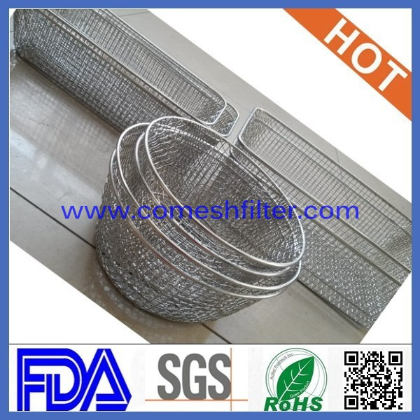 (professional factory) Stainless steel Electro polished cleaning baskets