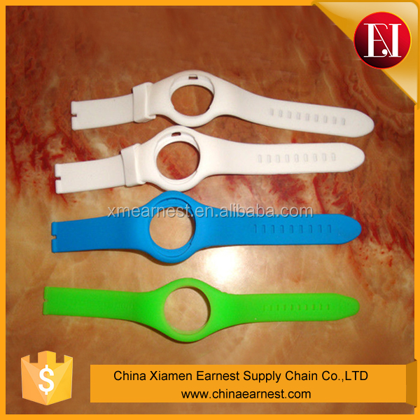 China Earnest new design colorful silicone rubber wrist watch strap mould