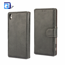 Hot! Retro Matte Leather PU Phone Holster Flip Folio Book Case Cover For Sony Xperia Z5