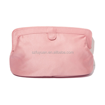 2017 new arrival pink pu leather designer cosmetic pouch bag for women