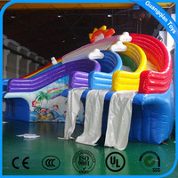 2016 High Quality Rainbow Inflatable Water Slide For Adults And Kids