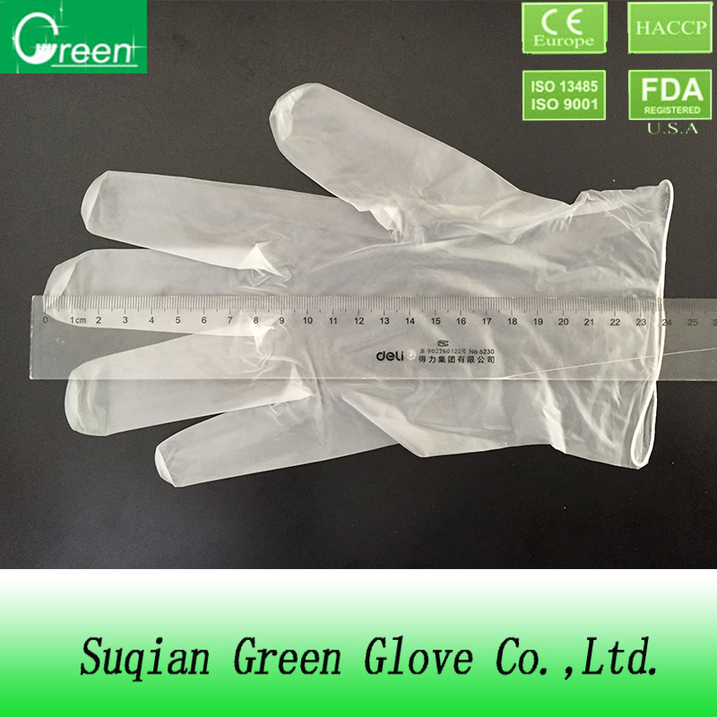 blue pvc cleaning working gloves