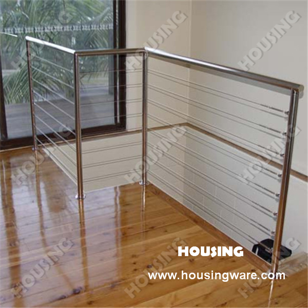 stainless steel handrail wire balustrade design for balcony