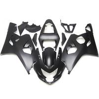 Hot Sale Injection Fairings For Suzuki GSXR600 GSXR750 K4 04 05 ABS Plastic Complete Motorcycle Fairing Kit Cowlings Black Gray