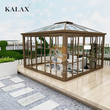 Modern stylish balcony green houses/Aluminum sunrooms with polycarbonate for selling