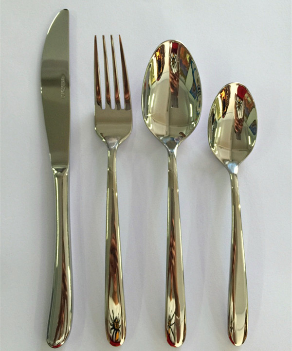 New design cutlery set of 72pcs stainless steel metal type