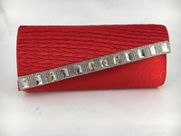 fashion diamond red wedding clutch bags evening bag