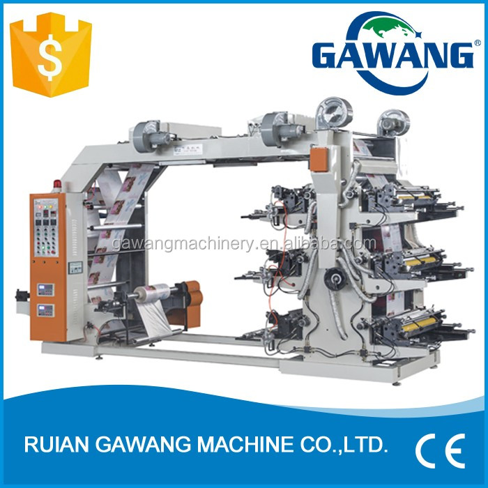 China Ruian Automatic High-Performance 6 Colors 800mm Cloth Bag Flexo Printing Machine Factory