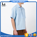 Cheap china wholesale clothing classic collar pale blue cotton shirt latest design of half shirt