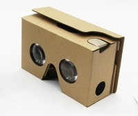 cheap 3d Google cardboard glasses with customized logo printing virtual reality