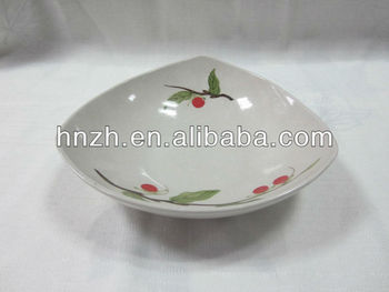 New design handpainted triangle plate