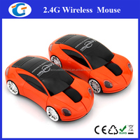 2.4GHz Optical Wireless Car Model Mouse With Head Lights Blue Red White