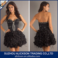 2014 Innovative Mini Appliqued Beads Working Puffy Short Homecoming Dresses