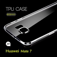 0.5mm Ultra Thin TPU Transparent Clear Protective Case for Huawei Mate 7