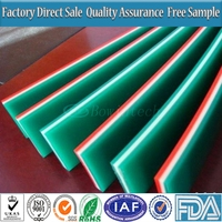 Silk Screen Printing Squeegee 25x5mm Red Color Oil Resistant