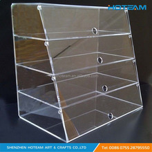 4 Tiered Food-Graded Acrylic Bakery Display Case
