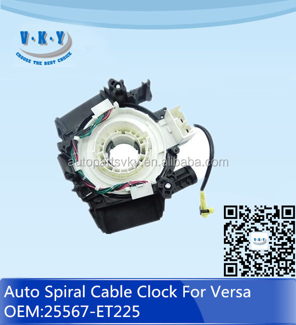 25567 ET225 Auto Spiral Cable Clock Spring Airbag for Nissan