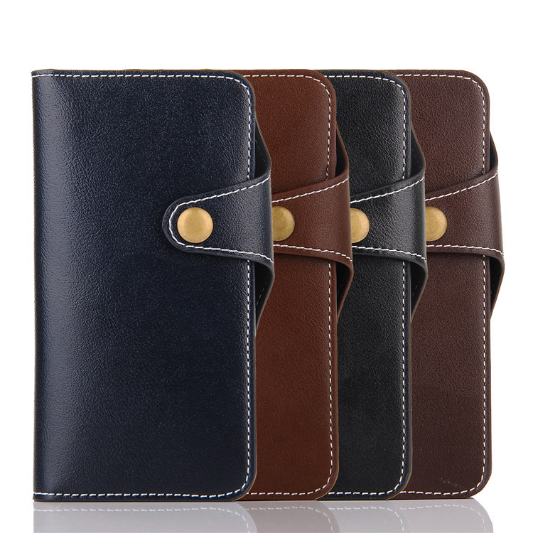Deluxe Genuine Leather Wallet Flip Magnetic Buckle Cover Case For iPhone 7
