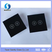 3mm4mm tempered glass for touch switch panel/light switch glass