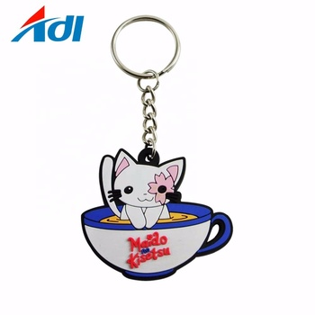 Factory personalized custom logo soft pvc rubber keychains