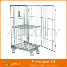 folding transport rolling cage cart