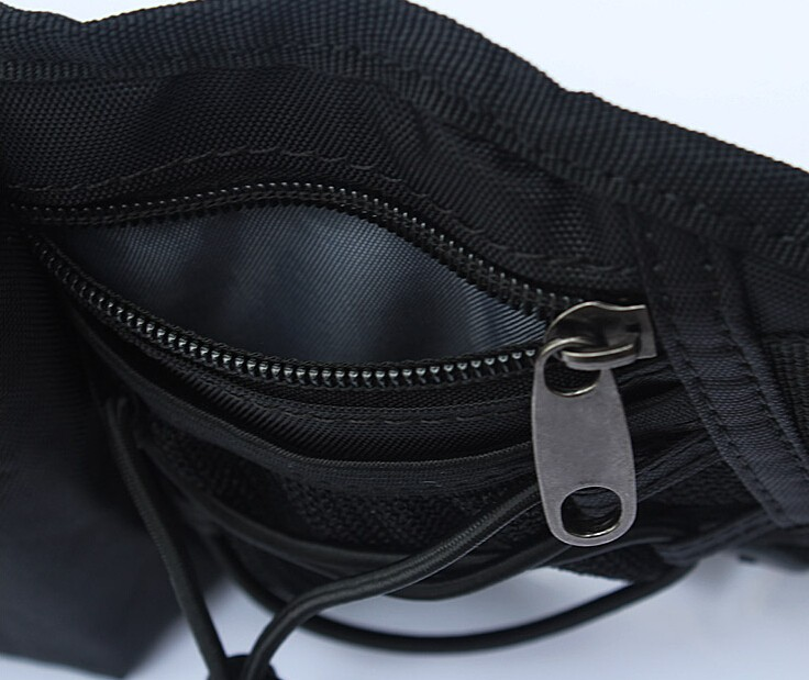 China Manufacturer New Design Black Waist Bag With Bottle Compartment