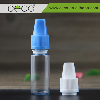 CECO new arrival 10ml pet bottles with childproof and tamper proof caps with blink mark e juice vape liquid bottles