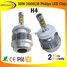 led headlight H4 auto lighting system CE E-Mark DOT factory direct fully aluminum housing car led head light bulb led lamp