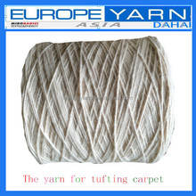 Semi-worsted wool,polyester,pp yarn for tufting carpet