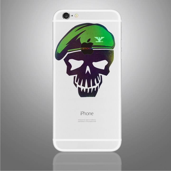 new innovative business ideas skull head mobile phone skins removable vinyl decorative stickers for iphone 6/7/7+ skin