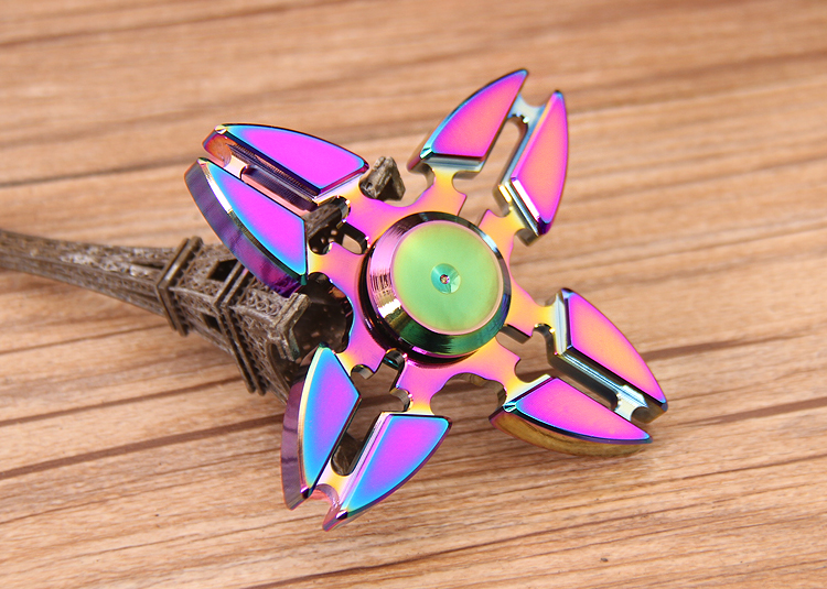 Colorful camouflage fingertip gyro hand spinner with 608 hybrid Ceramic Bearing