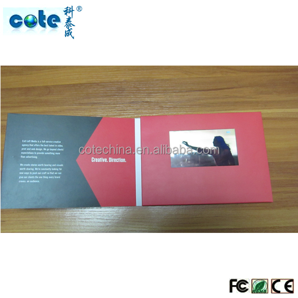 latest nice design video card/invitation lcd video greeting card/wedding invitation